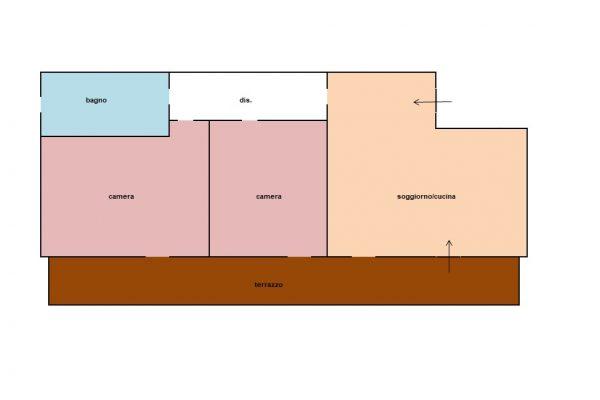 Tre vani con terrazza e cantina